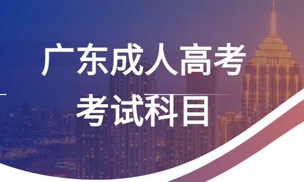 广东成人高考考试科目
