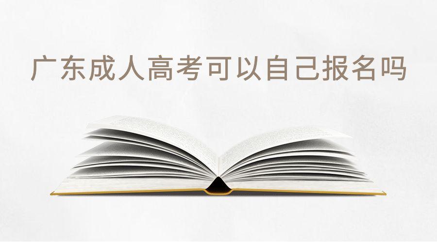 广东成人高考可以自己报名吗